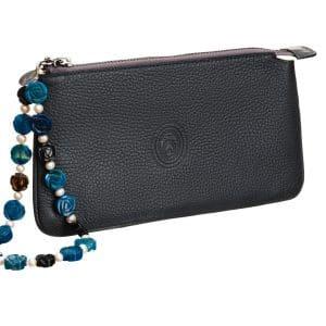 pavoni vaganti pochette peacock stone agates pearls 1