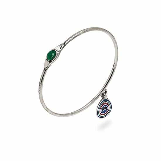peacock bracelet emerald menu